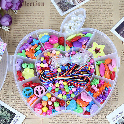 DIY Bracelet Plastic Acrylic Bead Kit Accessories Girls Jewelry Making Toy Craft