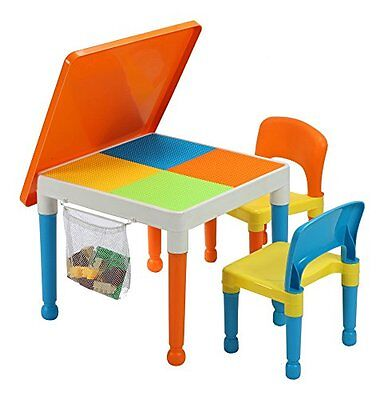 Liberty House Toys Multi-Purpose Building Block Construction Table with Storage