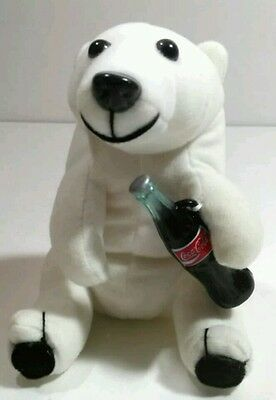 Coca Cola Polar Bear Plush Holding Bottle Coke Coca Cola Collection Promo 1993