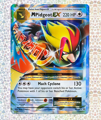 M Pidgeot Ex 65/108 Evolutions NM/M Ultra Rare