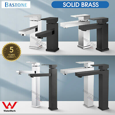 WELS Basin Mixer Tap Bathroom Counter Faucet Square Tall / Standard Vanity Water