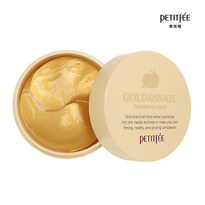 NEW PETITFEE Gold & Snail Hydrogel Eye Patch (60 pcs)