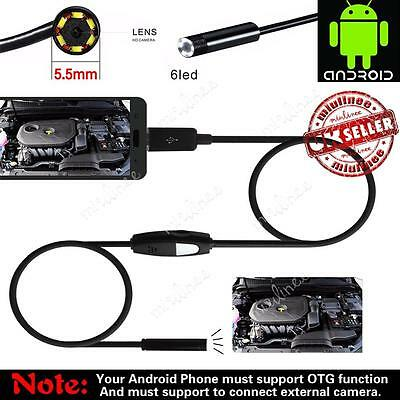 5.5MM 7MM 6 LED Android Endoscope Borescope Waterproof Inspection Video Camera