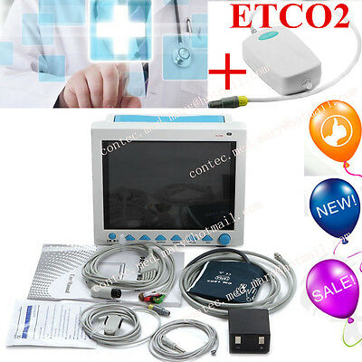CE 12.1'' ICU Patient Monitor+ETCO2,Vital Signs 6 Parameter Monitor CMS8000