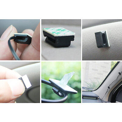 40PCS Home Office Car Cord Clip Cable Organizer Wire Cleats Back 3M Adhesive NEW