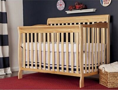 Crib 5-in-1 Fixed-Side Convertible with Bonus Mattress Nursery