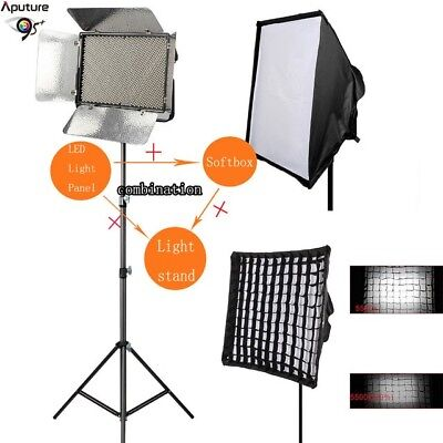 Aputure Light Storm LS 1c Studio 1536 LED  Dimmable Video Light Softbox & Tripod