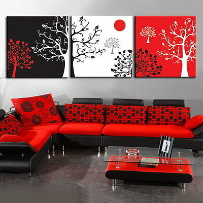 Modern Abstract Wall Art Oil Painting On Canvas:different Trees (No Frame)
