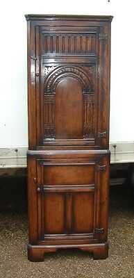 TITCHMARSH & GOODWIN VINTAGE SOLID OAK  corner cupboard  FABULOUS