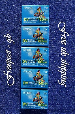 Superb Tdk Dvm60Me Mini Dv Digital Camcorder Tapes / Cassettes - Pack Of 5
