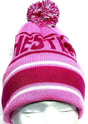 Manchester City Bobble Hat Pink Football Gifts