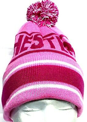 Manchester City Hat Bobble Pom Pom Hat Pink Football Gifts