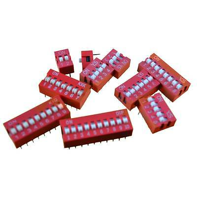 DIP Slide Switch with Varying Pin Numbers . ON/OFF. 2.54mm Pitch