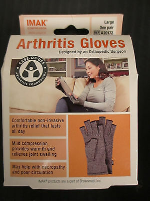 Imak Compression - One Pair Large Arthritis Gloves - A20172 - Rc 1204