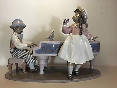 "Lladro #5930 - ""Jazz Duo"" Black Legacy Collection"