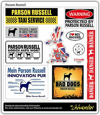 Auto Aufkleber Sticker Parson Russell Collection Dog Sammlung Reflex