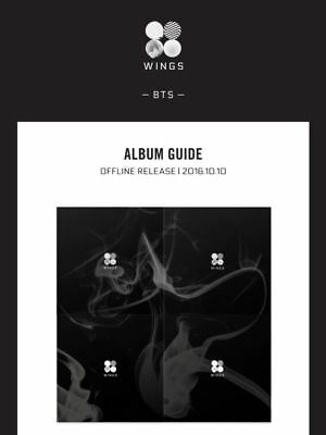 BTS  WINGS 2nd Album  CD+Photo Book+Polaroid Card