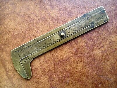 Vintage Caliper Meter Inches Brass Germany