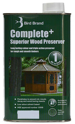 Bird Brand Complete+ Superior Wood Preserver | Light Brown | Several Options