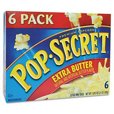 Diamond Foods 16686 Microwave Popcorn, Extra Butter, 3.5 oz Bags, 6 Bags-Box