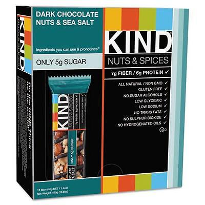 Kind Llc 17851 Nuts and Spices Bar, Dark Chocolate/Nuts/Sea Salt, 1.4 oz, 12/Box