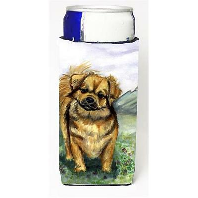 Tibetan Spaniel Michelob Ultra bottle sleeves for slim cans 12 oz.