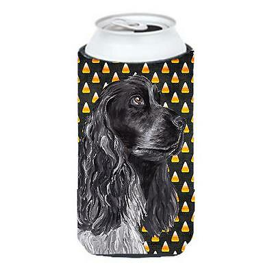 Cocker Spaniel Halloween Candy Corn Tall Boy bottle sleeve Hugger