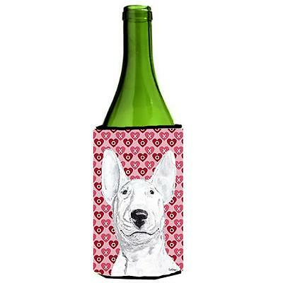 Bull Terrier Valentines Love Wine bottle sleeve Hugger 24 oz.