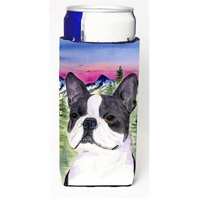 Boston Terrier Michelob Ultra bottle sleeves For Slim Cans 12 oz.