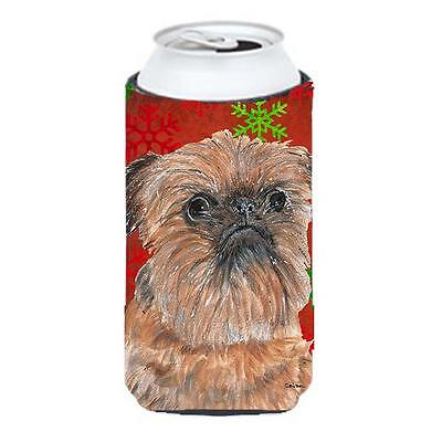 Brussels Griffon Red Snowflake Christmas Tall Boy bottle sleeve Hugger 22 To ...