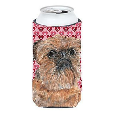 Brussels Griffon Valentines Love Tall Boy bottle sleeve Hugger 22 to 24 oz.
