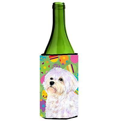 Carolines Treasures Maltese Easter Eggtravaganza Wine bottle sleeve Hugger