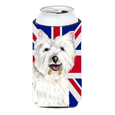 Westie With English Union Jack British Flag Tall Boy bottle sleeve Hugger 22 ...
