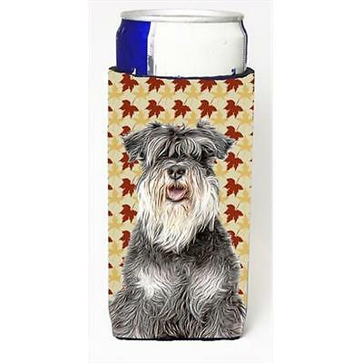 Fall Leaves Schnauzer Michelob Ultra bottle sleeves for slim cans
