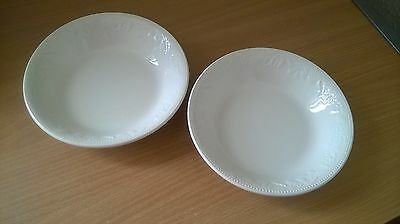 Barratts BHS Lincoln cereal dessert bowls x 2 (shallow version)