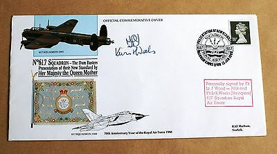 617 Dambusters Squadron 1988 Cover Signed By Wood & Weeks