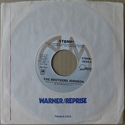 """7"""" The Brothers Johnson - Stomp - USA 1980 - NM"""