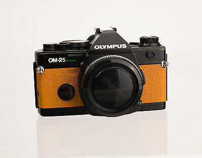 Olympus OM-2S Program Replacement Cover - Laser Cut Genuine Leather