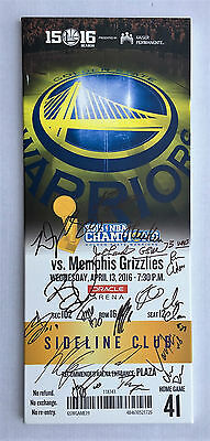 PSA/DNA 2016 GOLDEN STATE WARRIORS TEAM Signed Autographed Basketball Ticket