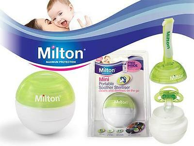 Milton Mini Portable Soother Dummy Pacifier Steriliser Green Purple Blue