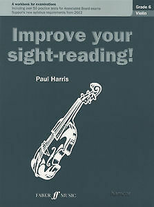 Improve Your Sight-Reading Violin Grade 6 Sheet Music Book by Paul Harris NEW