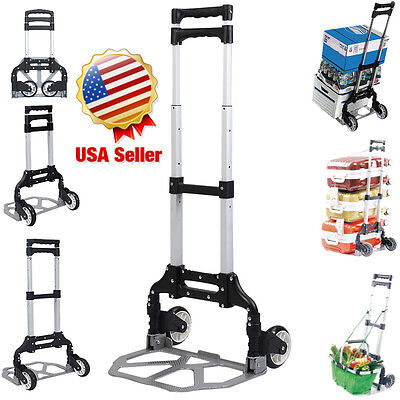 170lbs Folding Dolly Cart Push Hand Truck Moving Warehouse Platform Trolley MG