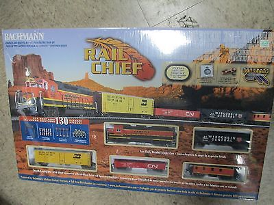 NEW IN BOX! Bachmann HO Scale Train Set Analog Rail Chief 00706 - FREE SHIPPING