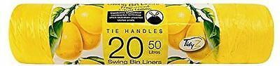 Bin Bags Liners with Tie Handles for Swing Bins ~ Pedal Bins ~ Kitchen Bins