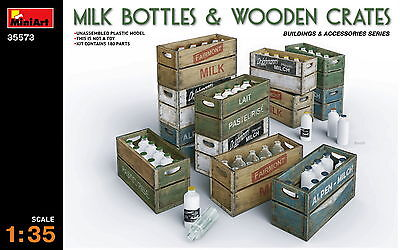 MiniArt 35573 MILK BOTTLES & WOODEN CRATES 1/35 plastic model kit