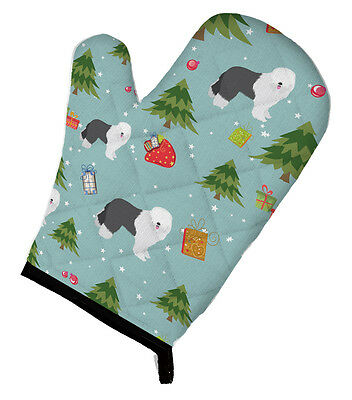 Carolines Treasures  BB4969OVMT Christmas Old English Sheepdog Oven Mitt