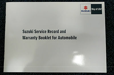NEW Genuine Suzuki CAR Service Book Record 12,500 Mile Servicing 99000-99004-SMC