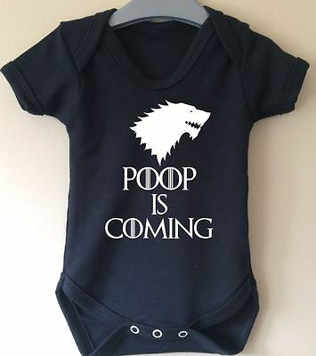 Poop Is Coming Winter Is Coming Wolf Game Of Thrones Baby Body Vest Girl Boy