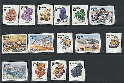 Namibia 1991 Minerals set of 15