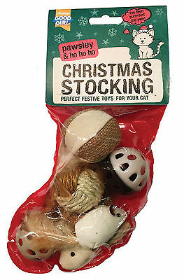 Armitage Pawsley Christmas Xmas Toy Stocking for Cats & Kittens with Six Toys